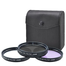 Xit 49mm 3-Piece Camera Lens Filter Kit, 49mm UV, FLD, CP Filter + Pouch