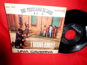 I NUOVI ANGELI Una caverna Sunny afternoon (THE KINKS)  45rpm 7' + PS 1966 ITALY