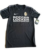 Nike Dry Dry Fit Mens Adult Small Soccer Jersy Black number 9 on back