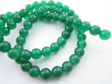 1 filo di giada smeraldo cabochon di 6 mm 64 pietre lungo 39 cm