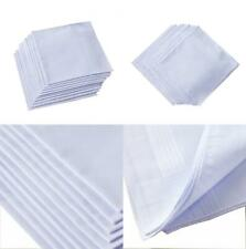 Ricosky Men's White Handkerchiefs,100% Cotton,Pack of 12