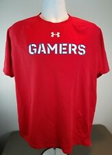 Under Armour NEW Mens GAMERS HEAT GEAR SS RED EA SPORTS T-Shirt Sz LARGE