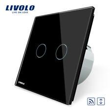 FUNK Touch Rollladenschalter Glas Schwarz 2 JAHRE GARANTIE!!! LIVOLO VL-C702WR12