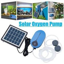 1.5W Solar Powered Panel Oxygen Oxygenator Air Pump Aerator Water For Fish Kit