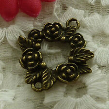 free ship 35 pieces bronze plated flower connector 27x24mm #2850