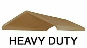 10X20 Heavy Duty Beige Canopy Top Cover with Valance Replacement Cover
