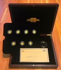 Seven Wonders of the World 7x Gold Proof Coins with Box & CoA - Limited Edition