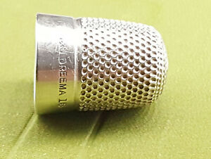 Silver / Silver plated Thimble Henry Griffiths & Sons Dreema.