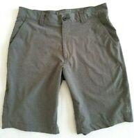 """Eddie Bauer Mens 30 Flexion Amphib Shorts Hiking Water Sport 10"""" Inseam Gray"""