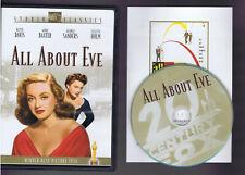 All About Eve - Bette Davis Anne Baxter (Dvd) Like New/ Near Mint w/ Insert