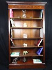 Antique Regency Sheraton Style incrusté de bibliothèque en acajou bibliothèque avant ouvert