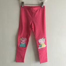 F&F PINK PEPA PIG LEGGINGS - Size UK3-4YEARS/US4T