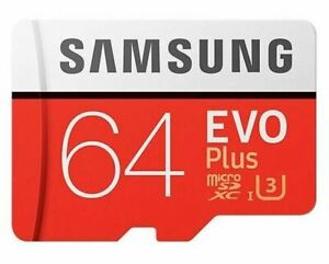 Samsung EVO Plus microSD 100MBs Memory Card with Adapter 64GB