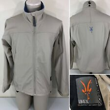 Ibex Jacket Women's M/L Fit Softshell Climawool Full Zip Jacket Beige Pre-Owned