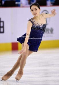 Blue Ice Figure Skating Dresses Custom  Competition Skating Dress Ice Wear