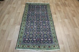 ANTIQUE PERSIAN RUG WITH A VERY PLEASING HERATI DESIGN AND COLOURS 180 X 85 CM