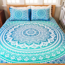 Bedding Set Double Quilt Duvet Cover Mandala Hippie Gypsy Indian Ombre Cover