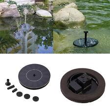 Solar Panel Submersible Fountain Pond Power Water Pump Kit Garden Pool Watering