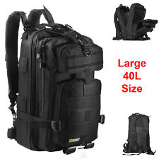 40L Large Military Tactical Backpack Army 3 Day Assault Pack Molle Gear Out Bag
