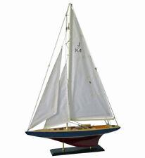 Maquette de Bateau en Bois J-Klasse - Modèle Beau Voilier 60cm (L) & 87cm (H)