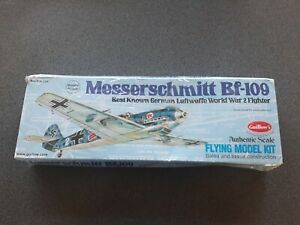 BF-109 Messerschmitt 419mm Wingspan Flying Model Balsa Aircraft Kit from Guillow