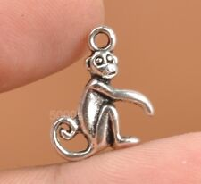 30pcs Tibetan Silver Charms Monkey Animal Pendant Beads Jewellery Making A3311