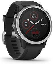 GARMIN Fenix 6s Silver, Smartwatch, Silikon, 108-182 mm, Schwarz/Silber Herzfreq