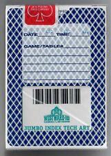 SEALED Westward Ho Playing Cards Las Vegas Strip casino Card Teal deck NOS New