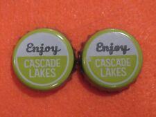2 Beer Bottle Crown Caps ~ CASCADE LAKES Brewing Company IPA ~ Redmond, OREGON