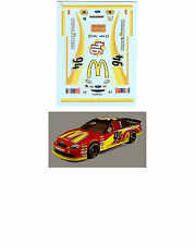 #94 Bill Elliott McDonalds 1/64 scale decal fits AFX TYCO Lifelike Autoworld