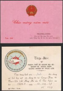 VIETNAM, 1969-85. Ephemera, New Year Card, Invitation