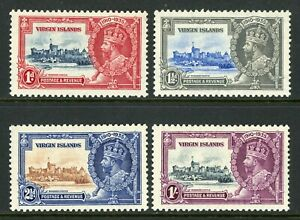 British 1935 KGV Silver Jubilee Virgin Islands Sc # 69-72 MNH Y225