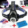 350000LM T6 LED Headlamp Zoomable USB Rechargeable Head Torch Lamp 18650 Battery