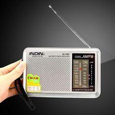 Portable Slim Universal Am/fm Receiver Radio Antenna Built in Speaker