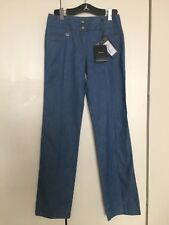 NWT DOLCE & GABBANA Woman's High Waisted Wide Leg Blue Denim Jeans Sz EU 42