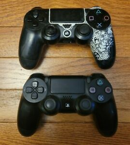 Lot of 2 Sony PlayStation 4 PS4 Controllers Parts or Repair AS-IS read