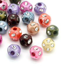 PD: 200 Mix Acryl Strass Spacer Perlen Beads 10x10mm