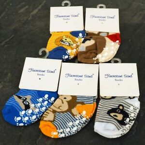 Toddler, Boys, ABS Cotton Blend, Anti Non Slip Socks, Size 12 Months Animals
