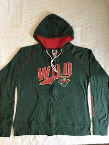 MINNESOTA WILD Women's NHL Full Zip Sweatshirt Shirt Hoodie Small S NEW