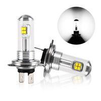 2x 6000K H7 160W High Power LED Xenon White Fog Driving DRL Light Bulb 1500LM