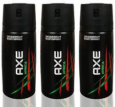 3 x AXE AFRICA NEW 2015 CANS Deodorant Body Spray 150 Ml = 5.07 Oz ( 3 PACK)