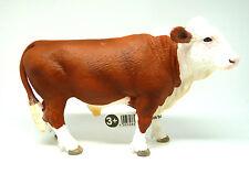 Q3)  Schleich (13763) Kuh Bulle braun weiss Schleichtiere Schleichtier Kühe
