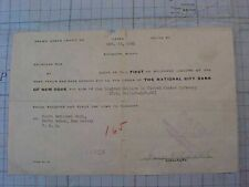 ORIGINAL WWII OCT 1941 RANGOON BURMA BANK DOCUMENT SIGNED BY 5 AVG FLYING TIGERS