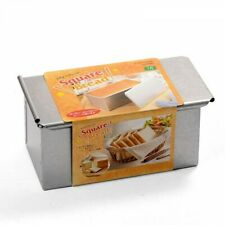Tiger crown Steel Square Bread Mold with Lid baking pan Largel 2383 Japan