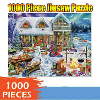 Christmas Jigsaw Puzzle 1000 Pc Adult Children Puzzle Holiday Gift Pattern Toy
