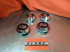 NEW ENKEI  Chrome and Black Center Cap SET of 4 CC-172
