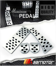 Manual MT LHD Aluminum Pads Pedal Set Gas Brake Footrest for 06-11 Honda Civic