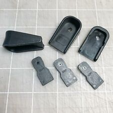 Glock 43 OEM 9mm magazine base plate 2 finger extensions & 3 lock inserts
