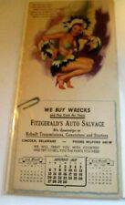 1949 Vintage Pin Up Girl Advertisement Calendar