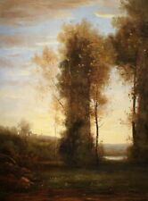 French Countryside Landscape, Elegant Oil On Canvas, Original Painting, 36 x 48""